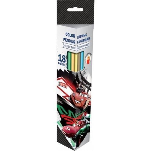 Набор цветных карандашей «Тачки»