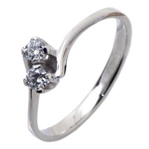 Кольцо с 2-мя бриллиантами
