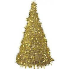 Новогодняя фольгированная елка (цвет - золотой)