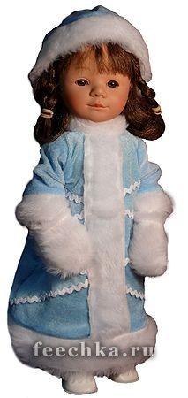 Пластмассовая кукла Мариетта-снегурочка, 34 см