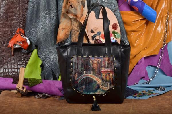 Дизайнерская сумка-шопер Живописный городок Elole Design