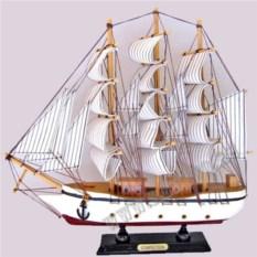 Белый корабль Confection (белые паруса в полоску)