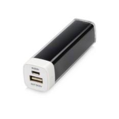 Черное портативное зарядное устройство Ангра