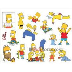 Лист виниловых наклеек Симпсоны