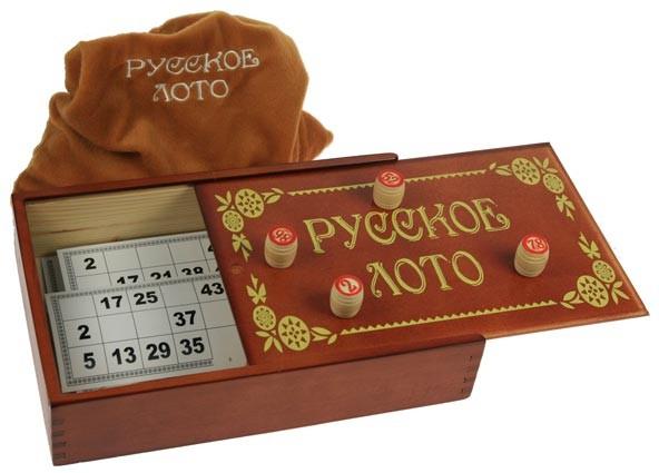 Русское лото в деревянной коробке