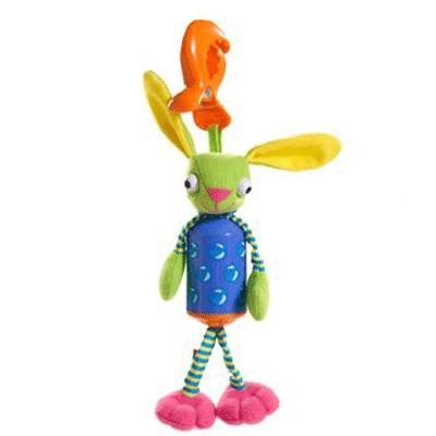 Развивающая игрушка Зайчик-колокольчик