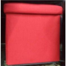 Красный складной пуф с местом для хранения