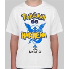 Детская именная футболка Pokemon go team mystic