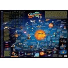 Настольная карта Солнечной системы для детей