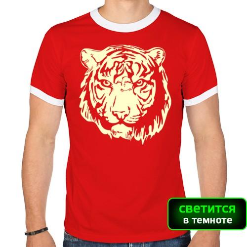 Мужская футболка рингер Тигр