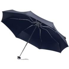 Темно-синий складной зонт в чехле