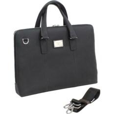 Кожаная сумка для ноутбука Continent CL-105 Black