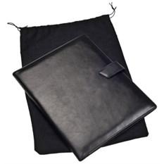 Черная кожаная папка Alvaro