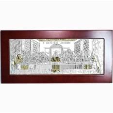 Икона в серебряном окладе Тайная Вечеря