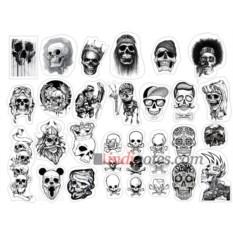 Лист виниловых наклеек Skull Art