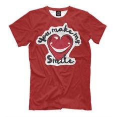 Мужская футболка You Make My Smile