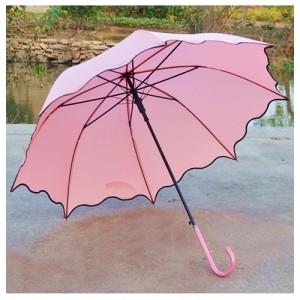 Зонт Лист лотоса, светло-розовый