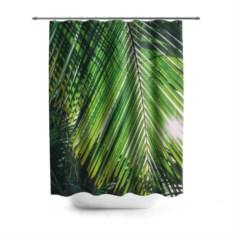 3D-штора для ванной Пальмы