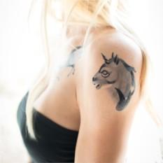 Татуировка переводная Sasha Unisex Unicorn Profile