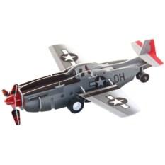 Инерционный 3D-пазл с мотором IQ Истребитель P-51