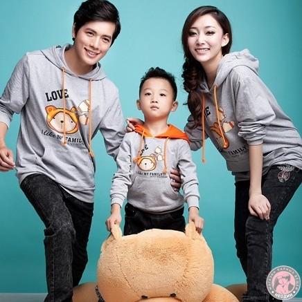 Семейные толстовки Три медведя для родителей и сына