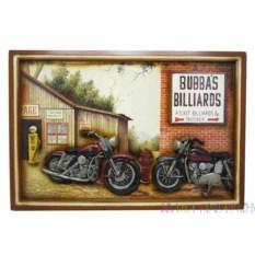 Панно Мотоциклы у бильярдной