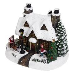 Светящееся новогоднее украшение Сказочный домик