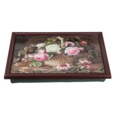 Поднос на подушке Корзина с цветами