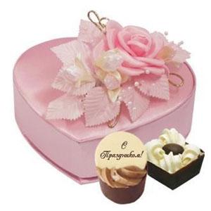Подарочный набор «Сердце розовое»