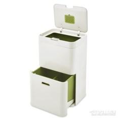 Белый контейнер для сортировки мусора Totem 48 л