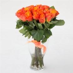 Букет из 25 оранжевых роз высотой 40 см