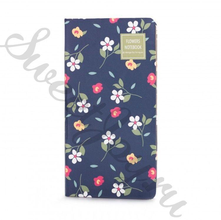 Блокнот Flowers Notebook – Navy