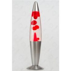 Лава-лампа (красная/прозрачная), 41 см