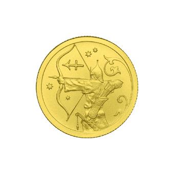 Монета «Стрелец», 25 рублей, Золото