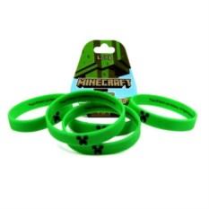 Зеленый силиконовый браслет Minecraft Крипер