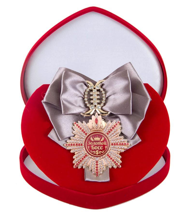 Большой Орден с серебряной лентой Золотой босс