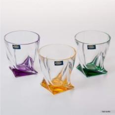 Набор стаканов Квадро Цветные Crystalite Bohemia