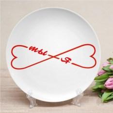Именная тарелка Ты и я