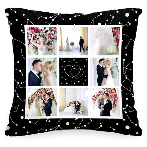Подушка с Вашим фото «Звёзды»