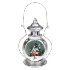 Новогоднее светящееся украшение Лампа - Домик в снегу