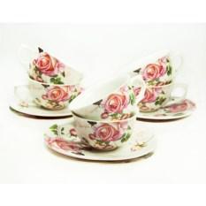 Кофейный набор на 6 персон Розы