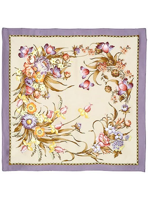 Павлопосадский шелковый платок Мерцание
