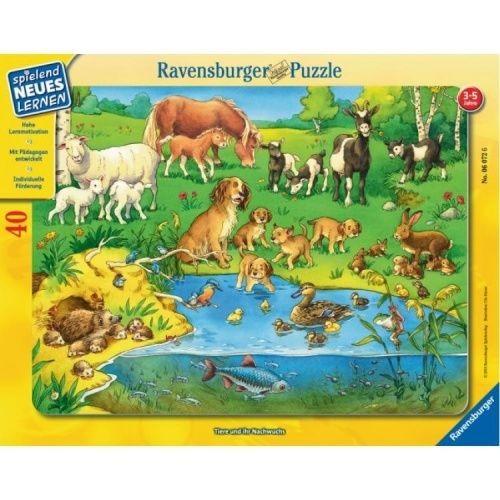 Пазл Животные и их детеныши