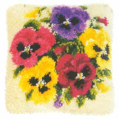 Набор для вышивания. Подушка Фиалки, 40 х 40 см, арт. 2560/3605