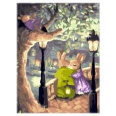 Картина-раскраска по номерам на холсте Тихий вечер