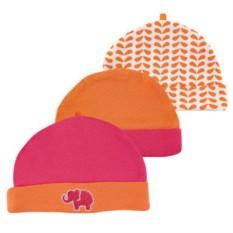Комплект из трех шапочек Розовый слон