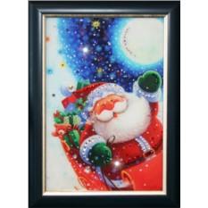 Картина с кристаллами Swarovski Санта Клаус