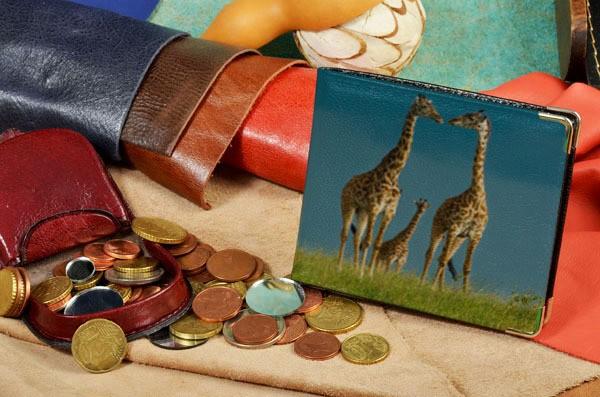 Портмоне с принтом Семья жирафов