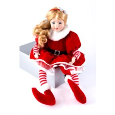 Интерьерная декоративная кукла Фея Рождества (41 см)