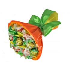 Оранжевый букет из конфет Микс 17